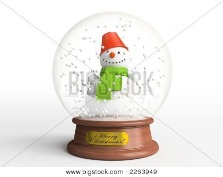 Smiling Snowman In Snow Globe - The Best Present For Christmas