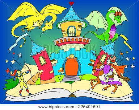 Color Fairy Open Book Tale