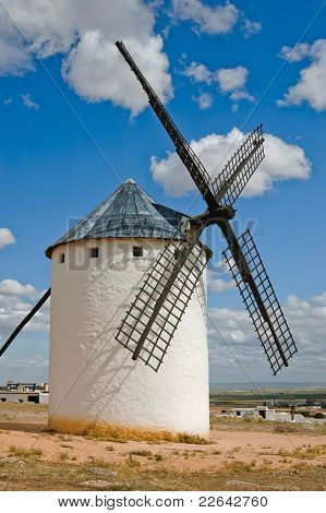 Medieval Windmill On A Hill