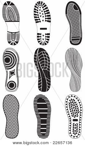 Vector illustration set of footprints