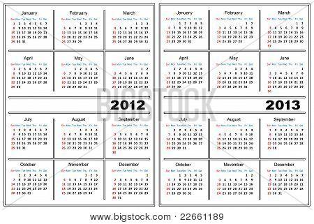 Calendar Template.