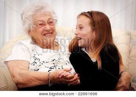 smiles with Great Grandma