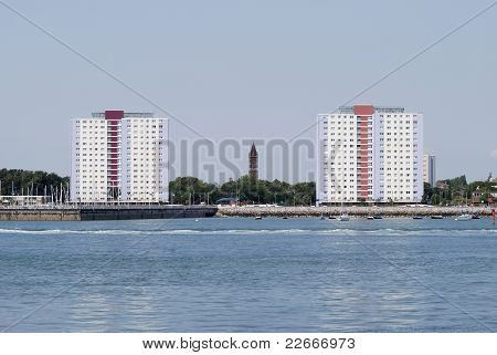 Blocks Of Flats At Gosport. England
