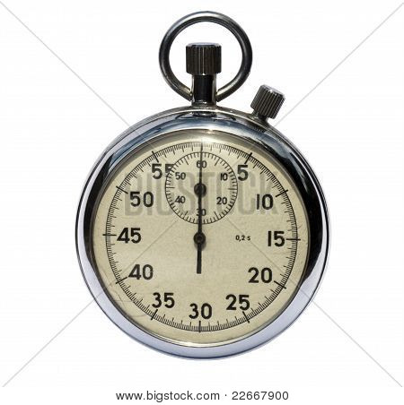Old analog stop watch