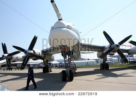 The strategic Bomber Tu-95Ms.