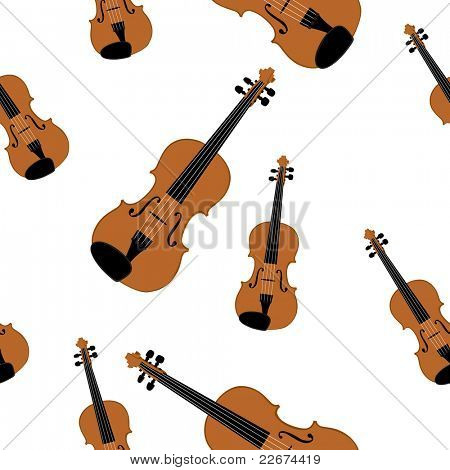 Vector illustration of violin on white bakcground