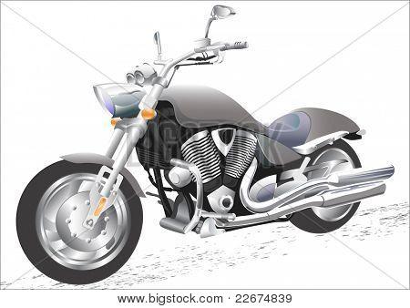drawing men to big motorcycle