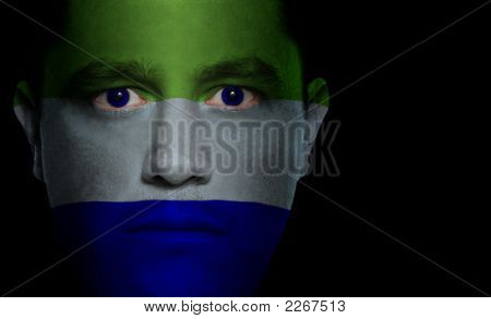 Sierra Leonese Flag - Male Face