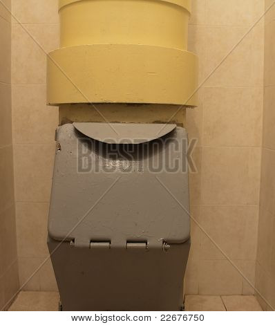Closeup Of Rubbish Disposal Chute