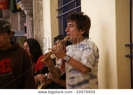 Man Playing Pan Pipes
