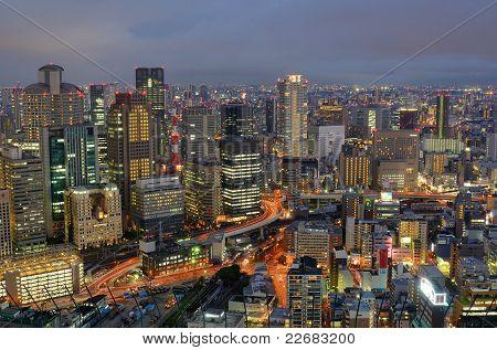 Skyline Of Osaka Japan