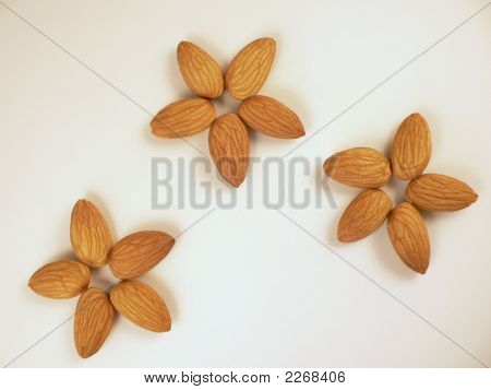 Almonds In Shape Of Flowers