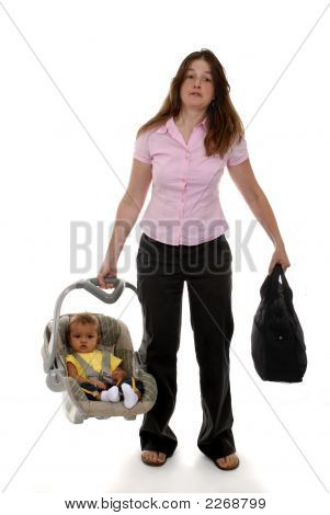 Mom And Baby On The Go