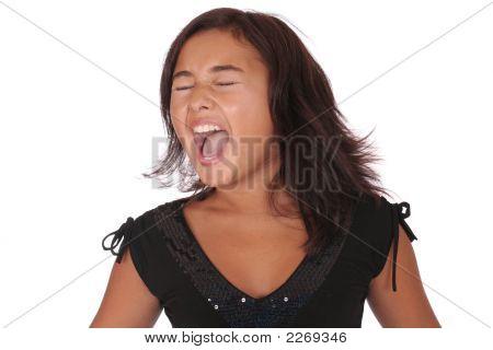 Screaming Asian Girl