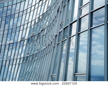 modern glass and aluminum facade