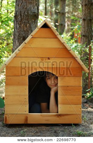 Boy In Wooden House