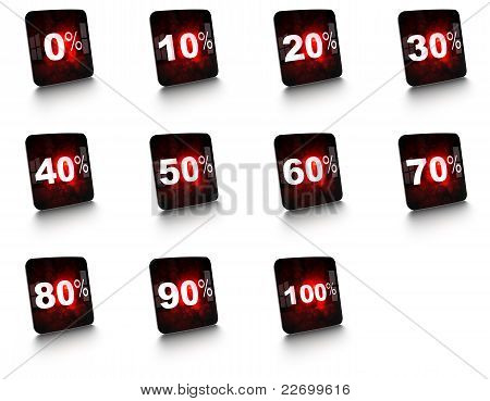percent modern sign