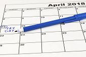 Taxes. Tax Day - April, 15. Concept For Tax Day Or April 15 The National Deadline For Filing Taxes. poster