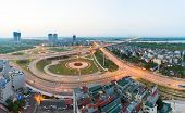 Aerial Skyline View Of Crossroads An Duong Vuong Street - Vo Chi Cong Street - Au Co Street To Nhat  poster