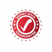 Money Back Sticker Sign Guarantee Seal Template Label Isolated Vector Illustration poster