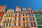Colorful Houses On Market Square, Wroclaw, Poland. Townhouses In Medieval Market Square, Rynek. City poster