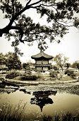 Постер, плакат: Китайская архитектура в саду
