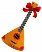 Balalaika Russian Retro National Traditional Musical Instrument. Stringed Musical Instrument. Isolat poster