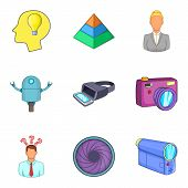 Physical Phenomenon Icons Set. Cartoon Set Of 9 Physical Phenomenon Vector Icons For Web Isolated On poster