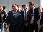 MOSCOW, RUSSIA - AUGUST 17: Vladimir Putin, Russian Prime Minister  at the International Aviation an