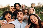 Friends Making A Selfie Together At Party poster