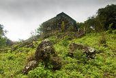 foto of hacienda  - Ancient Abandoned Church on a Cloudy Rainy Day - JPG