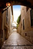 stock photo of calatrava  - arches of Barrio Calatrava Los Patios in Majorca at Palma de Mallorca Balearic Islands - JPG