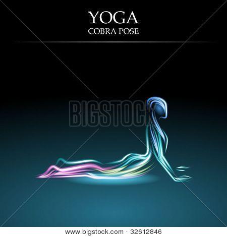 Yoga Pose, Cobra Pose, Eps10 Vector