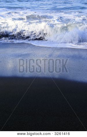 Large Wave Crushing On A Beach