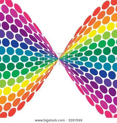 Twisted Rainbow Polka Dots