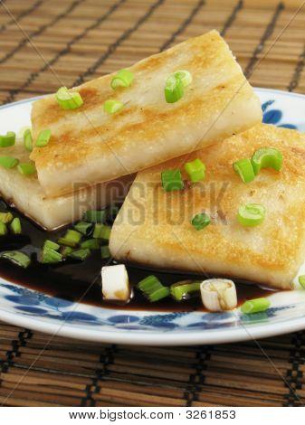 Plate Of Taro Cakes