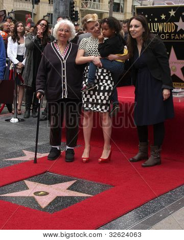 LOS ANGELES - MAY 2:  Scarlett Johansson, Grandma, sister, Mother at the Scarlett Johansson Star Walk of Fame Ceremony at Hollywood Boulevard on May 2, 2012 in Los Angeles, CA