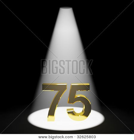 Gold 75th Or Seventy Five 3d Number Representing Anniversary Or Birthdays
