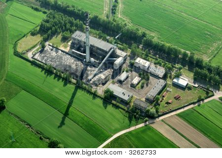 Coal Factory - Aerial View