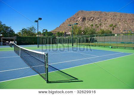 Resort's Blue Tennis Courts