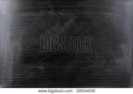 Rubbed out chalk on blackboard