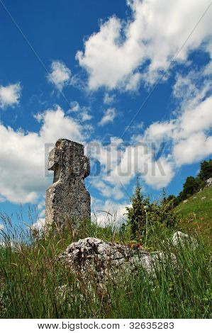 Stone Cross In The Outdoors