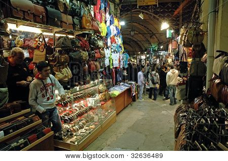 Istanbul - December 25: Inside In The Grand Bazaar Which Is The Largest And Oldest Covered Market, O