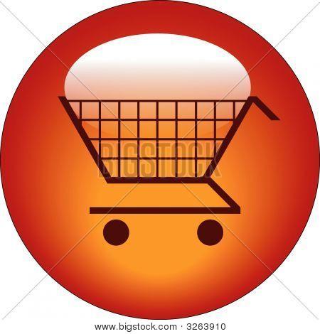 Cesta de la compra del botón