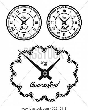 Vintage clock set