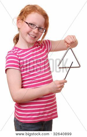 Girl With Triangle