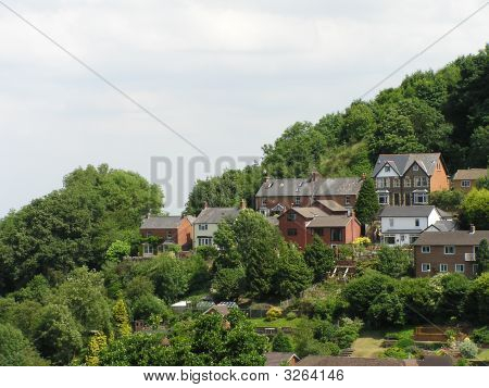Homes On An English Hillside