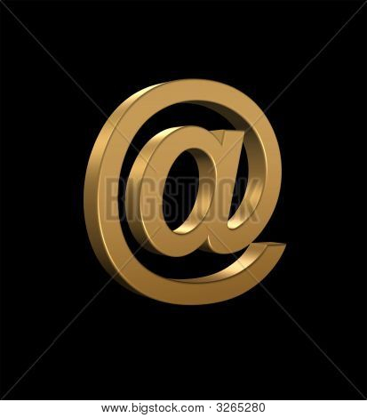 Gold Email Symbol