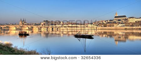 Blois Reflected In The River