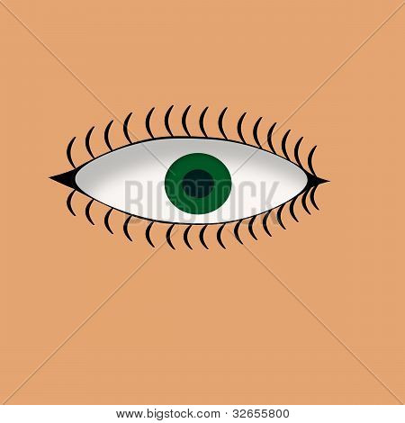 Large Green Eye